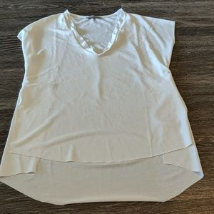 Zara off white blouse with slit sides
